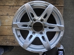 CLEARANCE, DENTED AND DINGED - 16x6 Silver T10 Sendel Aluminum Trailer Wheel 6 on 5.50 Lug 3,200 lb Max Load