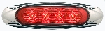 Miro-Flex Surface Mount Sealed LED Marker/Clearance Light Red 4 Diode with Chrome Housing MCL19RB