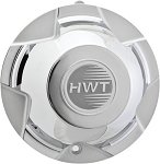 Replacement Center Silver Cap for HiSpec 16 in Dark Force Trailer Wheel