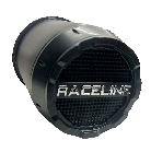 Raceline Steel Matte Black Center Cap with Removable End 3.19