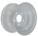8x3.75 White Steel Trailer Wheel 5x4.5