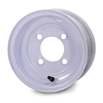 10 x 6 White Solid Trailer Wheel 4 on 4 Lug, 1,330 lb Load Capacity
