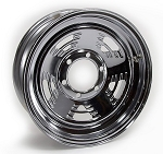 16x6 Weekend Warrior Chrome Steel A-Style Trailer Wheel 6 Bolt, 3,200 lb Max Load