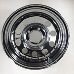 U.S Wheel 14 x 6 Chrome Modular Trailer Wheel with Rivets, 5 on 4.50 Bolt Pattern