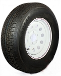 ST205/75R15 LR C Radial Trailer Tire  & 15x6 White Modular Wheel 5x4.50