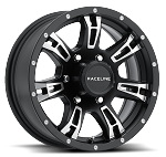 15x6 840 Arsenal Matte Black Aluminum Trailer Wheel 6x5.50