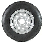 13 x 4.5 Silver Modular Trailer Wheel, 5x4.5 with ST17580R13 Carlisle Radial Trailer Tire