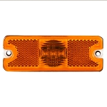 Truck-Lite 18 SERIES, LED, YELLOW RECTANGULAR, 3 DIODE, MARKER CLEARANCE LIGHT