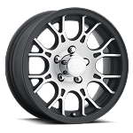 14x5.5 Sendel T16 Matte Black Machined Aluminum Trailer Rim 5x4.50 Bolt Circle