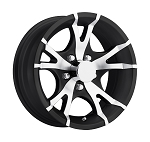 13 x 5.5 Viper Black Trailer Wheel Type T07 Bolt Pattern 5 on 4.50 Lug, 1,660 lb Load Capacity