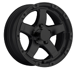 13x5 T08 Matte Black Aluminum Trailer Wheel 5x4.5 T08-35545MB