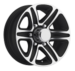 15 x 6 T09 Trailer Rim Black Machined, 6x5.50 Lug Pattern 3,200 lb Capacity