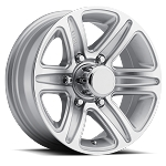 15 x 6 T09 Trailer Rim Siliver Machined, 5x4.50 Lug Pattern 2,150 lb Capacity