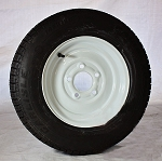 12 inch Solid Steel Trailer Wheel 5x4.5 and Radial Tire Assembly 145R12