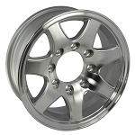 16 x 6 T02 Aluminum Trailer Wheel 8 on 6.50 Bolt Pattern