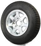 ST225/75R15 T02 6 Bolt Aluminum Trailer Wheel and Radial LR D Tire