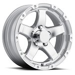 17 x 8  Aluminum Sendel T08 Trailer Wheel, 6 on 5.50, 2850 lb Max Load