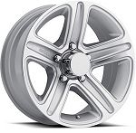 13 x 5.5 T09 Trailer Rim Silver Machined, 5x4.50 Lug Pattern 1,660 lb Capacity