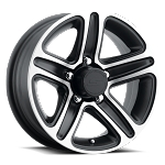 14x5.5 T09 Matte Black Machined Aluminum Trailer Wheel 5x4.5 Lug