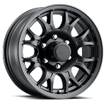 16x6.5 T16 Matte Black Aluminum Trailer Wheel 6x5.5