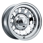 13x5.5 Chrome Modular Trailer Wheel with Rivets 5x4.5 Lug, 1360 lb Load Capacity