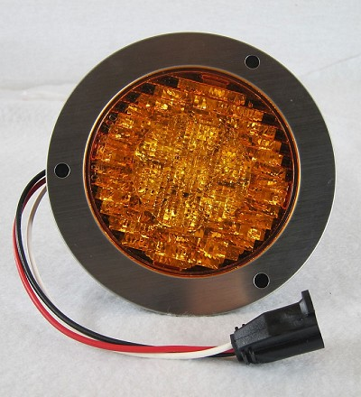 4 in Round Amber LED STT Truck Light Kit #019-01-106
