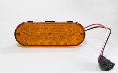 Amber 6 inch Oval LED Stop Turn Tail Trailer Light incl. Harness