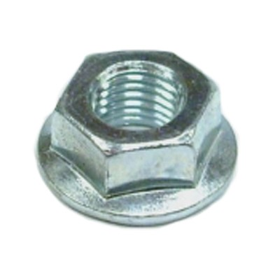 Flanged hex lock nut #006-092-01 - fits Dexter 9/16 in shackle bolts with 7/16 in thread - Grade G