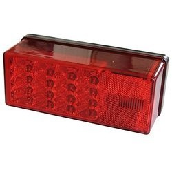"WATERPROOF LED OVER 80"" 3X8 LOW PROFILE TAIL LIGHTS by Wesbar Right Hand Curb Side"