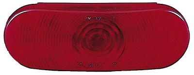 Peterson Manufacturing 6-1/2 in Red Oval Trailer Tail Light #421R