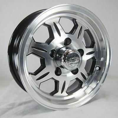 15 x 6 SAWTOOTH 870 Aluminum Trailer Rim 5x4.50 with Center Cap