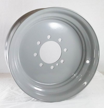 "17.5x6.75 Grey Commercial Truck/Trailer Wheel, 8x6.50 Lug, 6200 lb Max Load  (FLANGE NUT REQUIRED: 5/8""-18)"