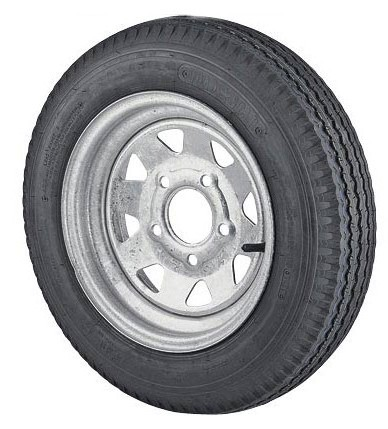 ST205/75D14 Bias Ply Trailer Tire and Galvanized 5 lug Spoke Trailer Wheel Assbly