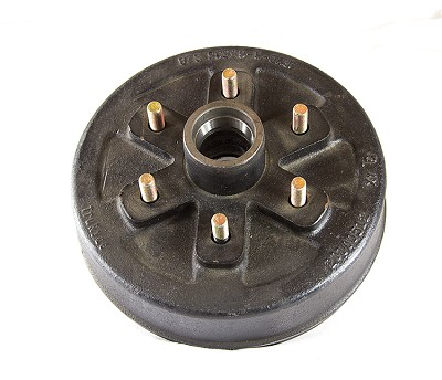 Trailer Brake Hub and Drum - 10 in, 6 on 5.50 - 3,500 lb Axles #BD6553517