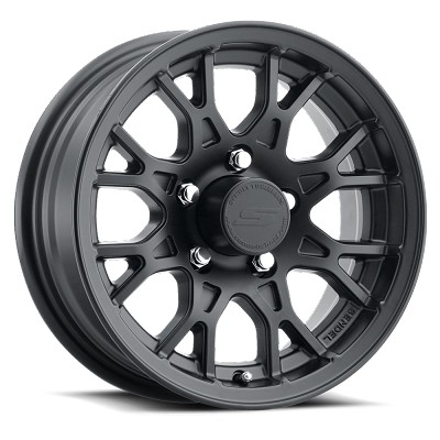 15x6 T16 Matte Black Aluminum Trailer Wheel 5x5