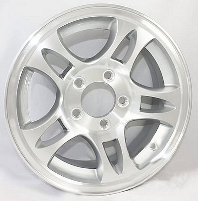 15 x 6 T03 Aluminum Bullet Trailer Wheel 5 x 4.5 Bolt Pattern