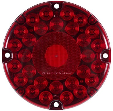 7 inch Round Transit LED Turn Signal Light, 31 Diode, Red #STL90RB