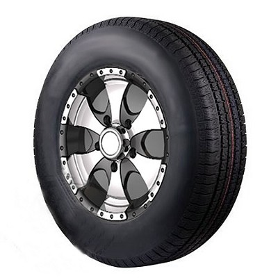 14 x 6 Transformer Aluminum Trailer Wheel and 215/75D14 Bias Ply Special Trailer Tire Assembly